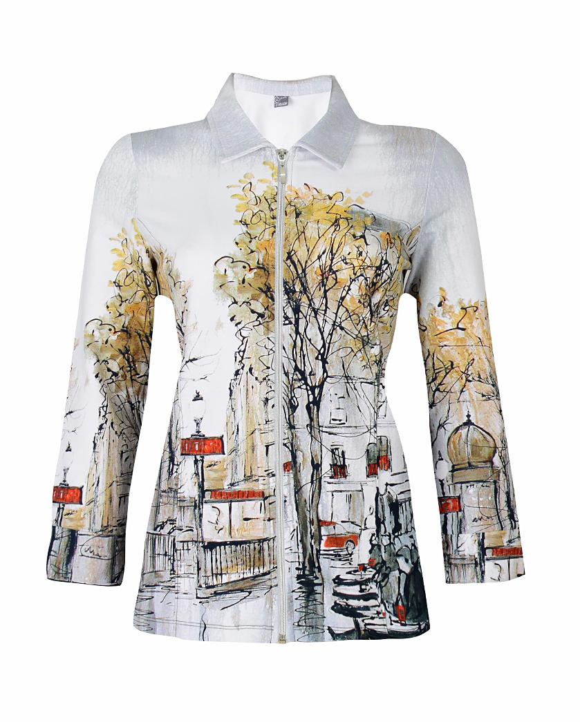 Simply Art Dolcezza: Splendid Parisian Life Zip Jacket (1 Left!) Dolcezza_SimplyArt_59706