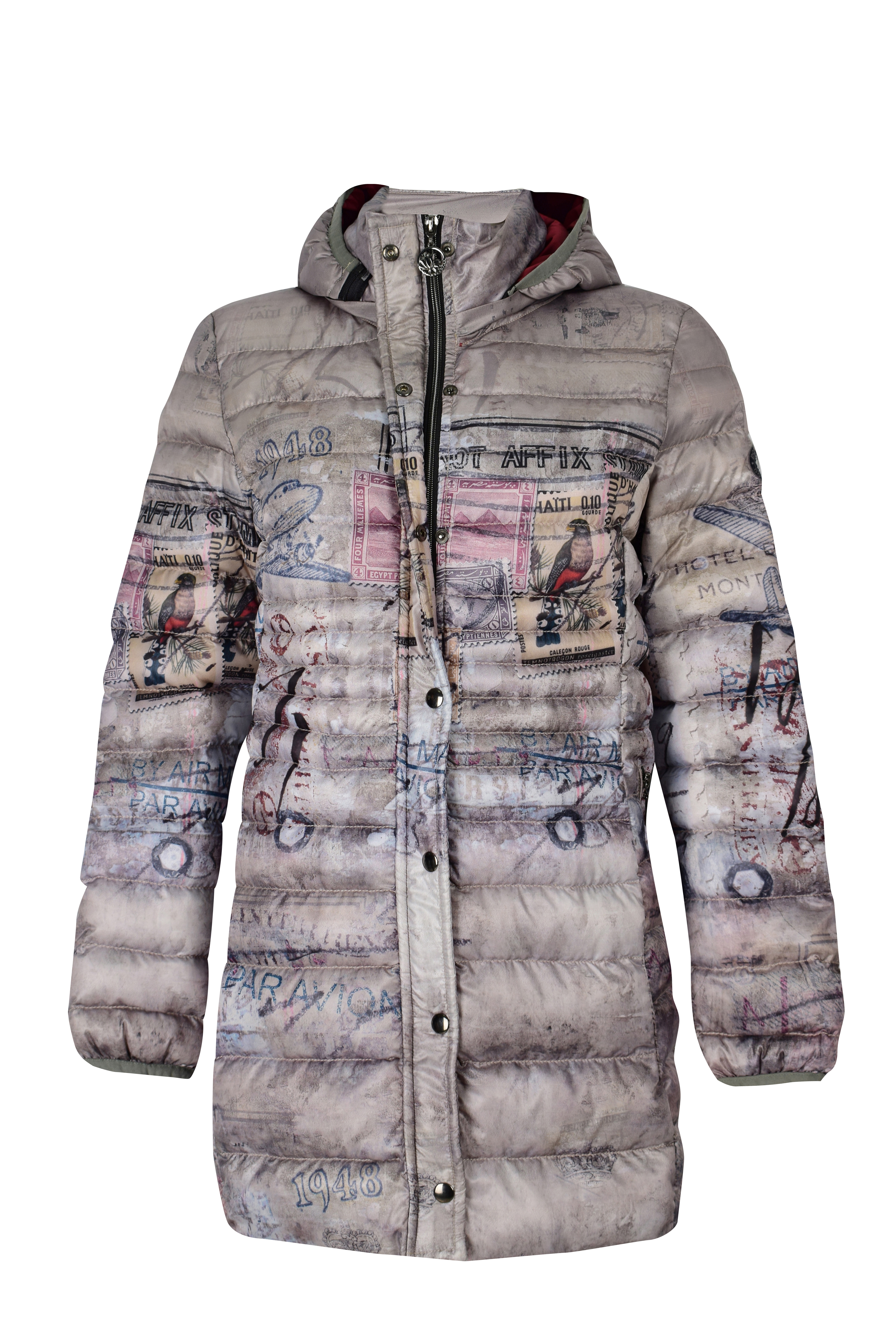 Simply Art Dolcezza: Do Not Affix Stamp Graffiti Abstract Art Puffer Coat SOLD OUT Dolcezza_SimplyArt_59871