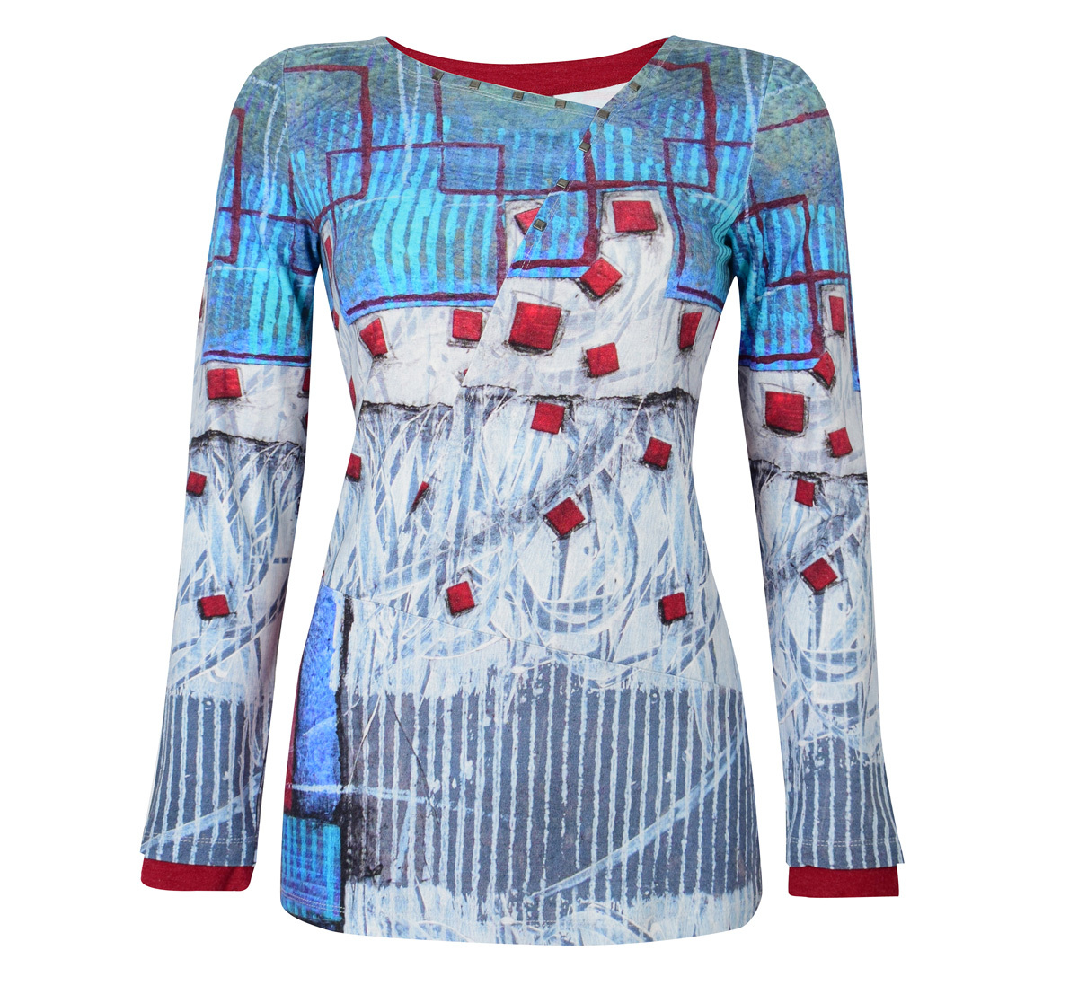 Simply Art Dolcezza: Asymmetrical Spiritually Square Uneven Abstract Art Tunic (1 Left!) Dolcezza_SimplyArt_59661
