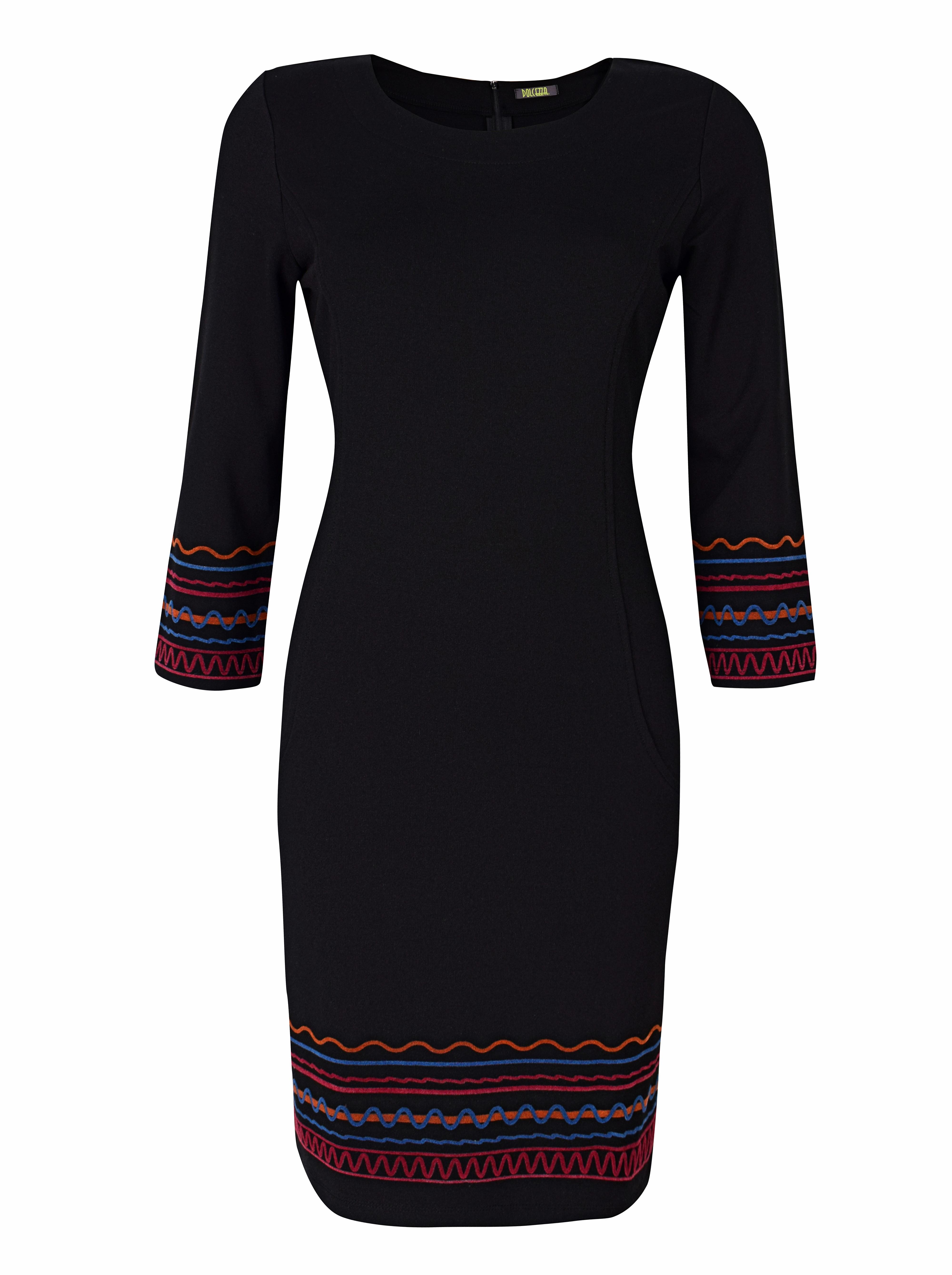 Dolcezza: Casablanca Rhythm Midi Back Zip Dress (2 Left!) Dolcezza_59116
