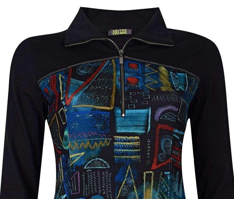 Dolcezza: Chalkboard Geometric Graffiti A-line Dress (1 Left!)