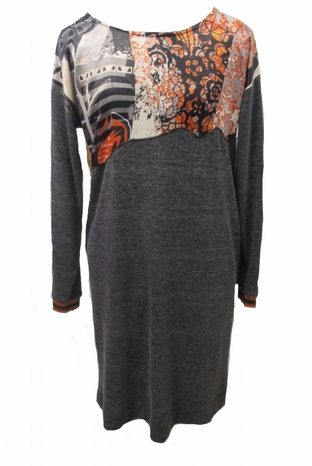 Maloka: Jazzy Girl Orange Sparkle Sweater Dress/Tunic (2 Left!)