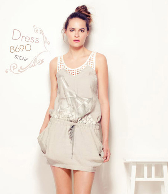 Angels Never Die Drawstring-Waist Jumper Dress AND_8690