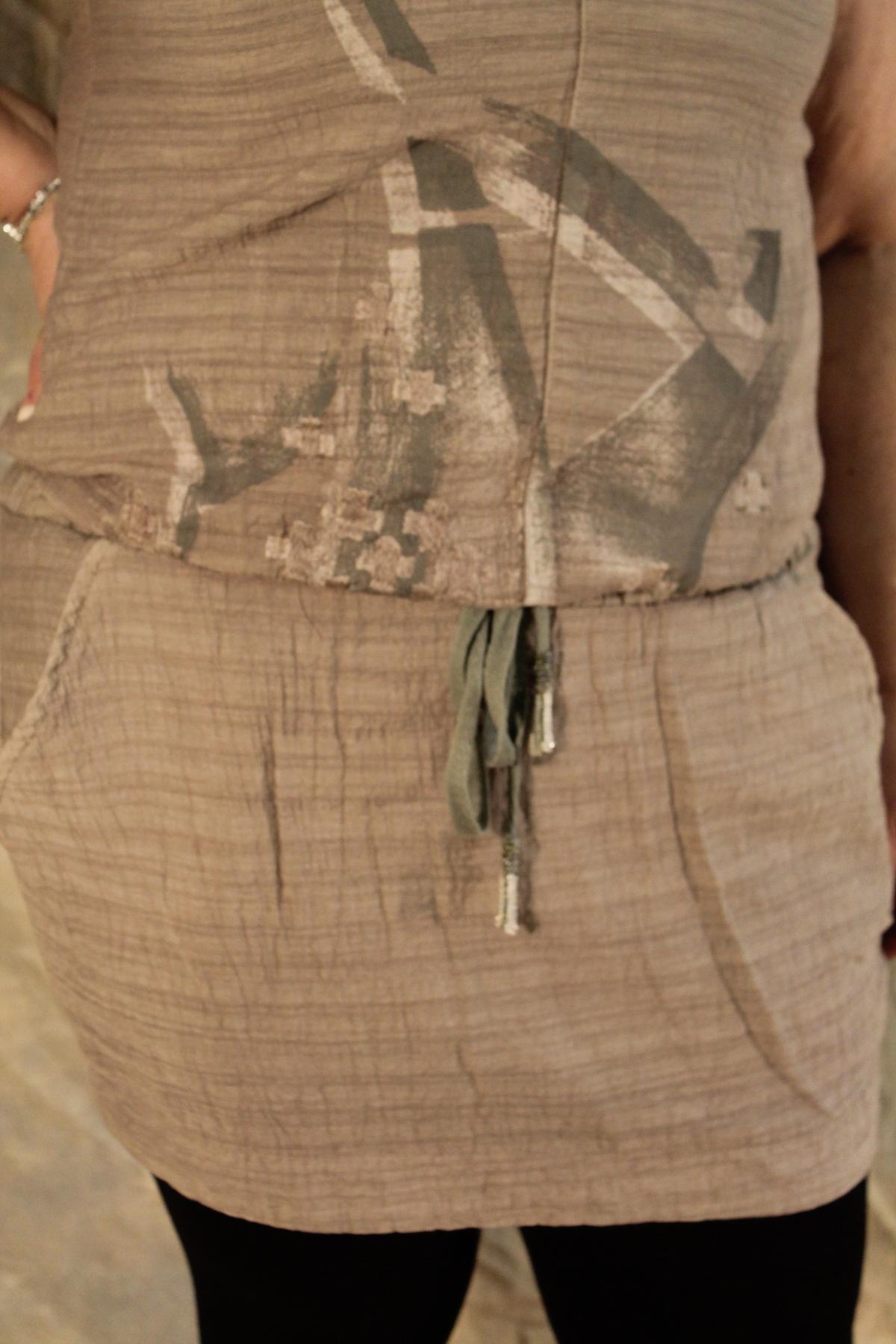 Angels Never Die Drawstring-Waist Jumper Dress