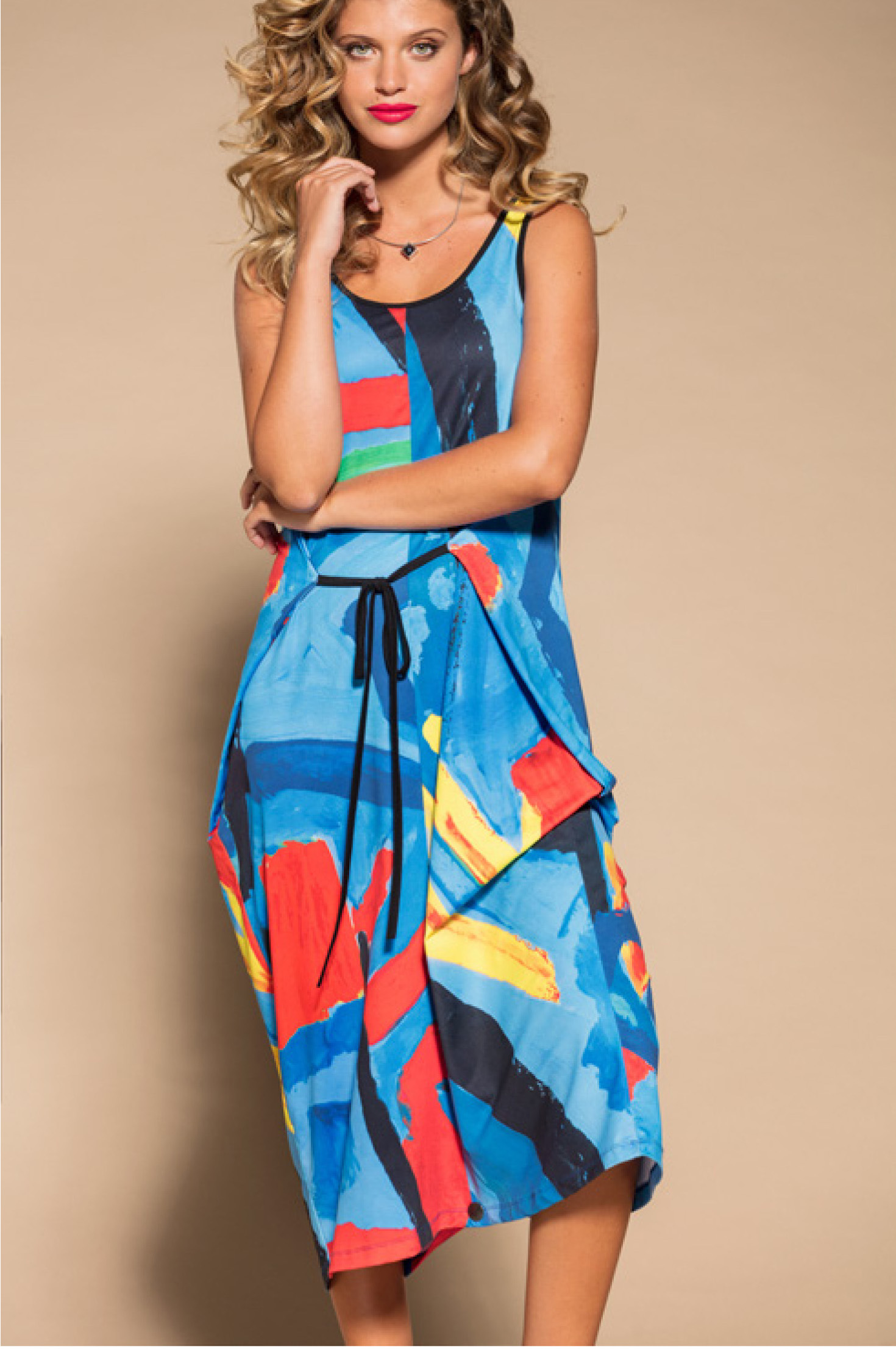 Maloka: Colors Of Picasso's Gypsy Beauty Abstract Art Jumpsuit/Sundress MK_GAUTHIER_N