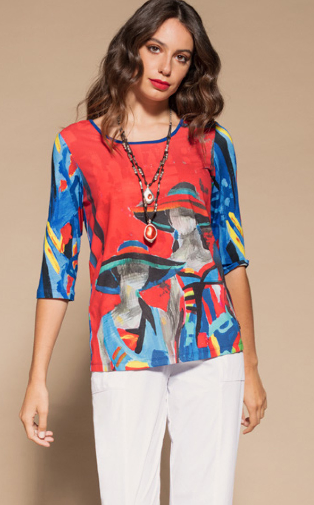 Maloka: Colors Of Picasso's Gypsy Beauty Abstract Art Tunic (1 Left!) MK_GABI_N
