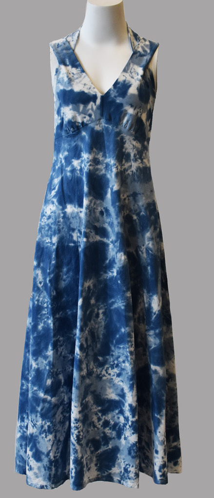 Luna Luz: Cross Over Botanical Bodice Tie Dye Long Dress (More Colors!)