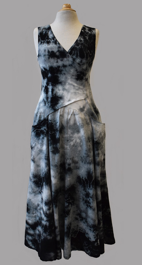 Luna Luz: Cross Over Botanical Bodice Tie Dye Long Dress (More Colors!) LL_516_BOTANICAL_N