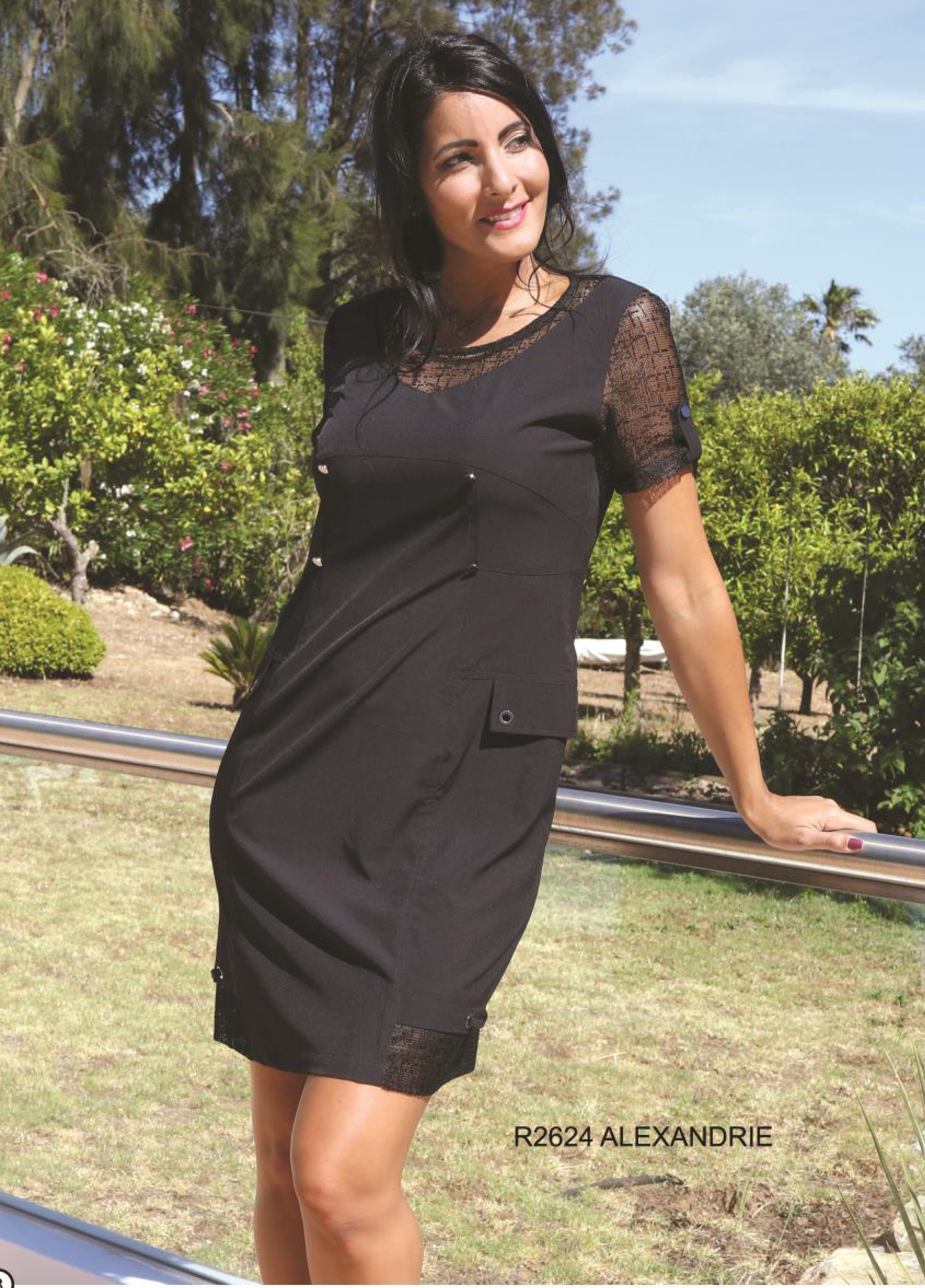 S'Quise Paris: Little Black Pocket Dress SQ_2624_N
