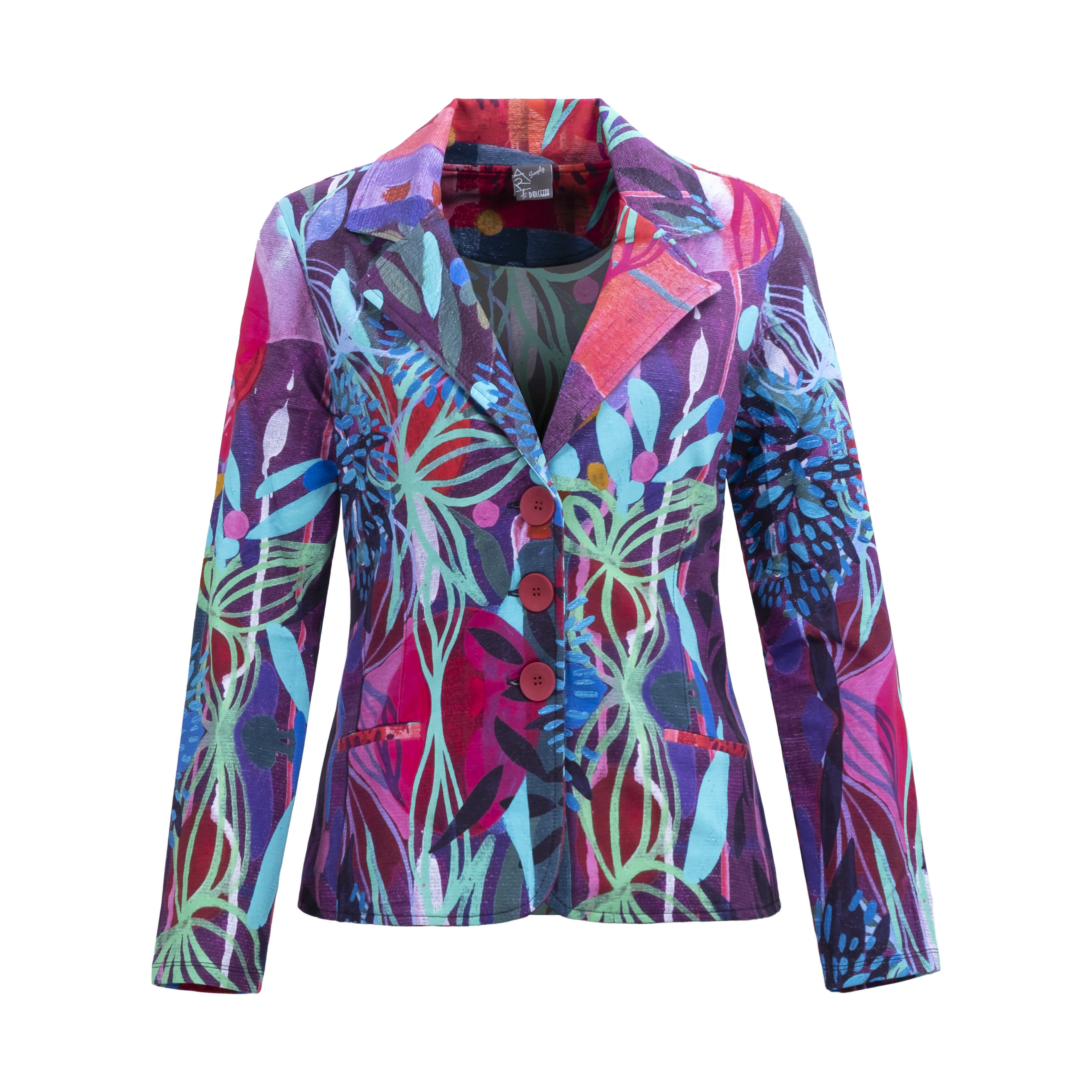 Simply Art Dolcezza: Color & Joy Tangle Of Leaves Abstract Art Blazer