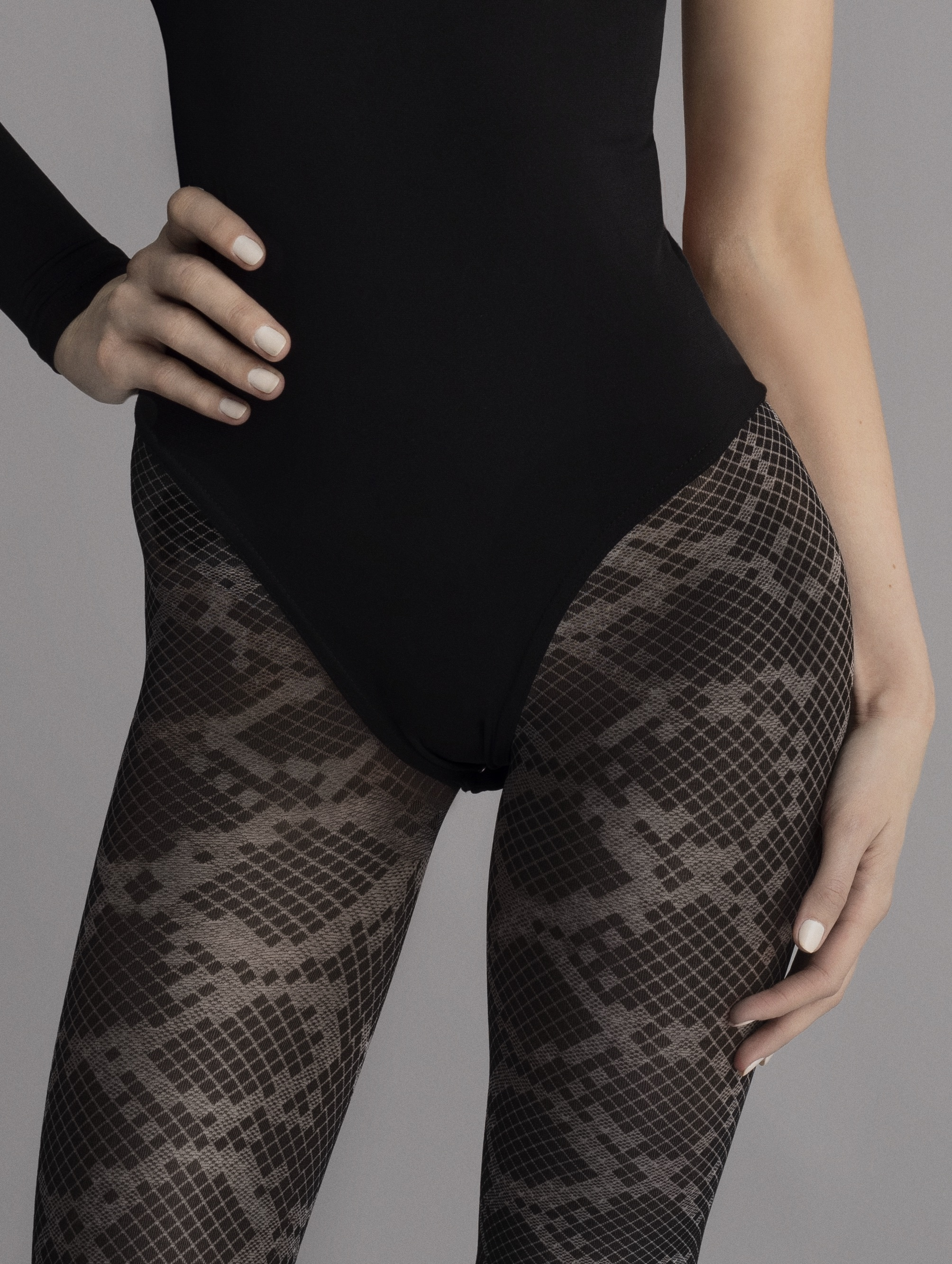 Fiore: Blotched Snake Tights