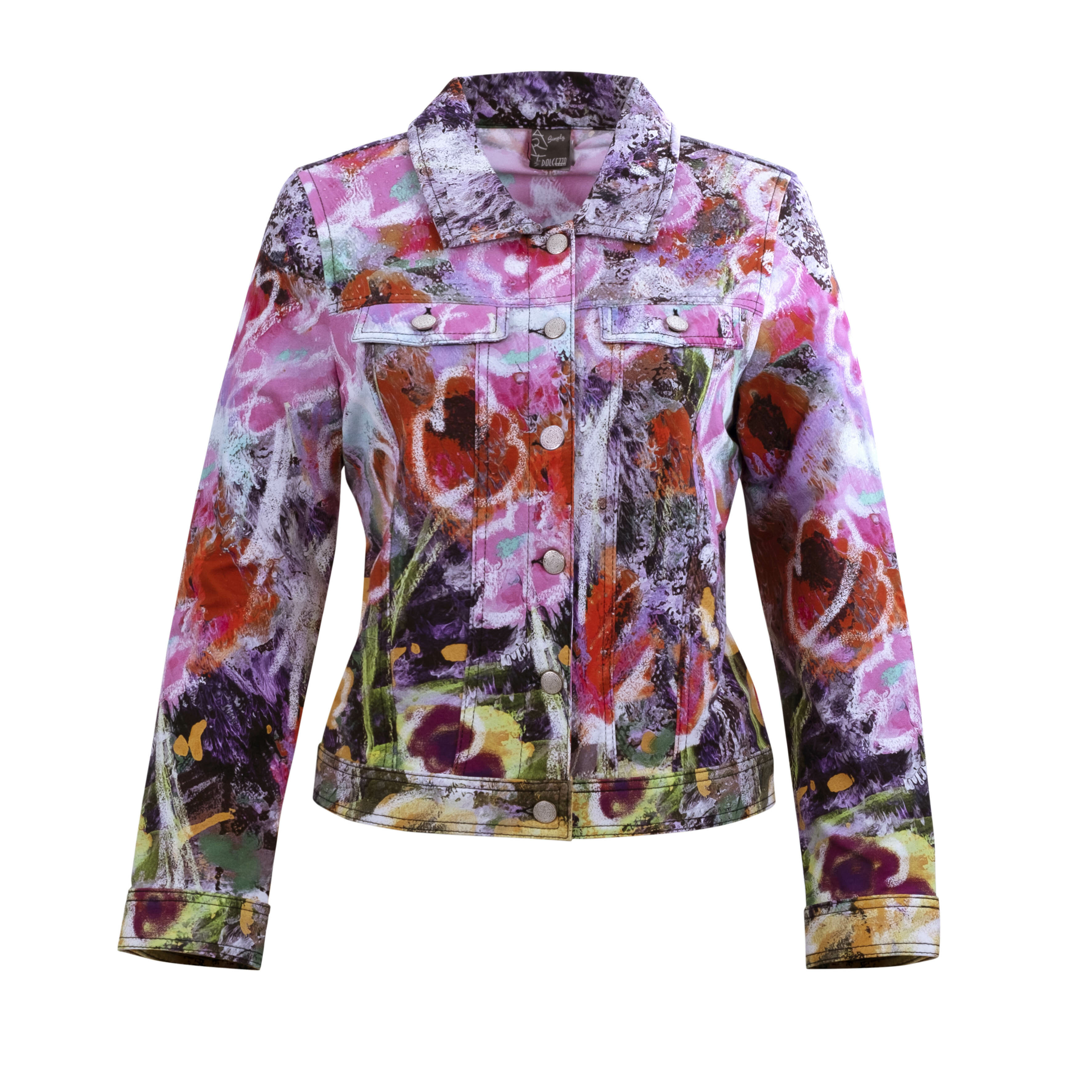 Simply Art Dolcezza: Wildest Flowers Abstract Art Denim Jacket DOLCEZZA_SIMPLYART_20610_N