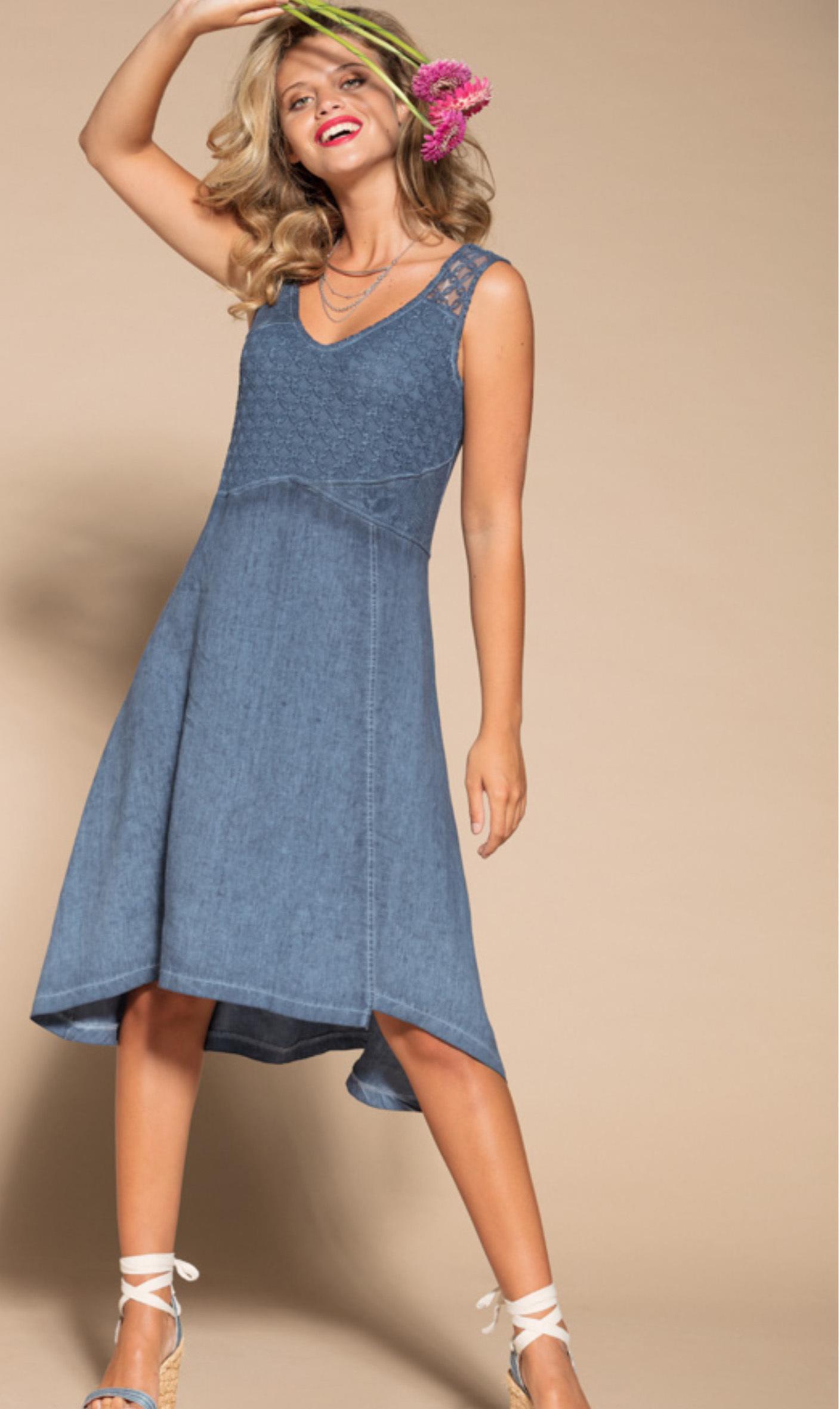 Maloka: Brushed Cotton High Waisted Midi Dress MK_TEDDIE_N