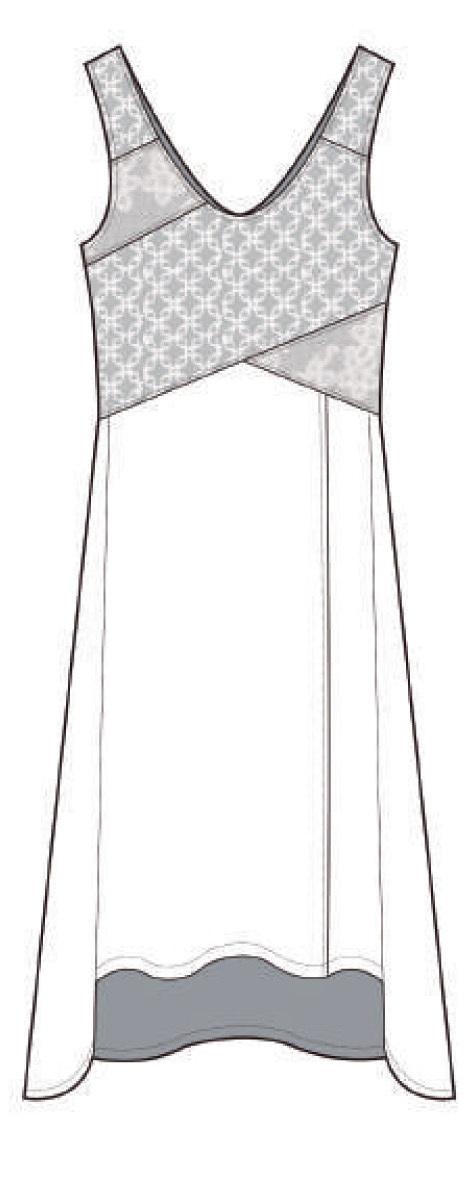 Maloka: Brushed Cotton High Waisted Midi Dress