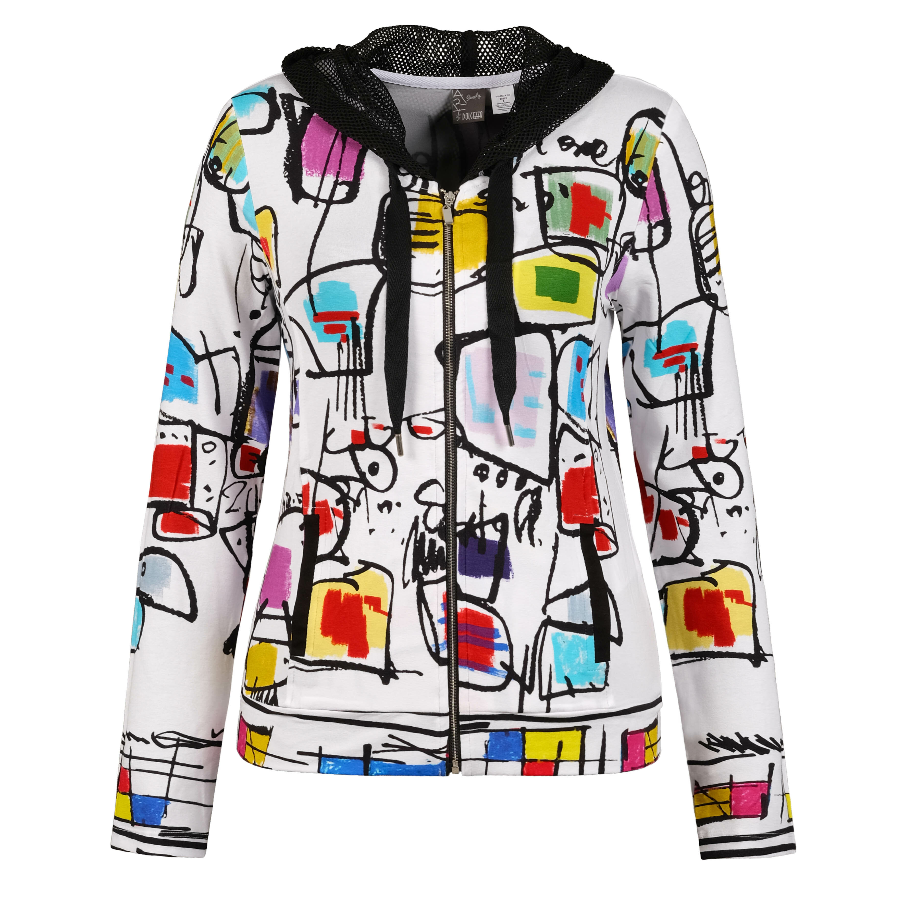 Simply Art Dolcezza: Etagere & Miss Eze Printed Hoodie Jacket (1 Left!) Dolcezza_SimplyArt_20692