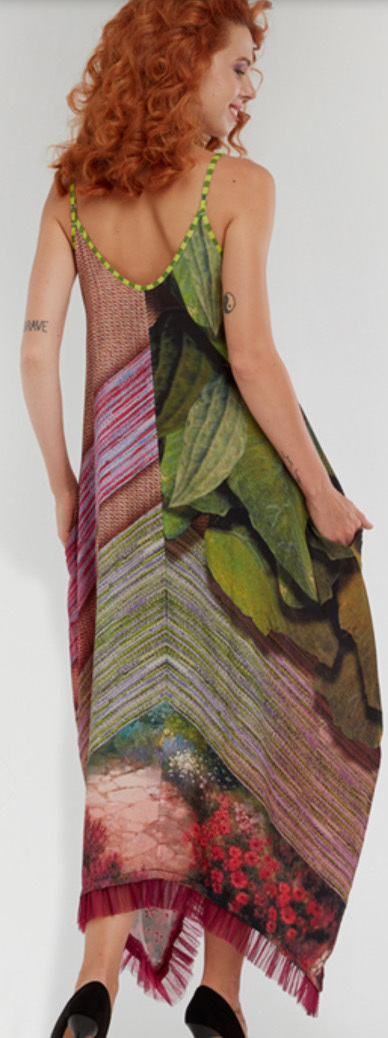 IPNG: In Paradiso Cherry Carnation 3D Illusion V-Cut Maxi Dress (Some Ship Immed!)