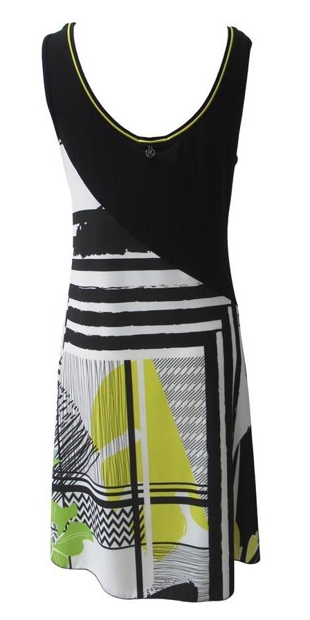 Maloka: Lemon Lime Marble Asymmetrical Bodice Dress/Tunic (Comes In 2 Art Patterns!)