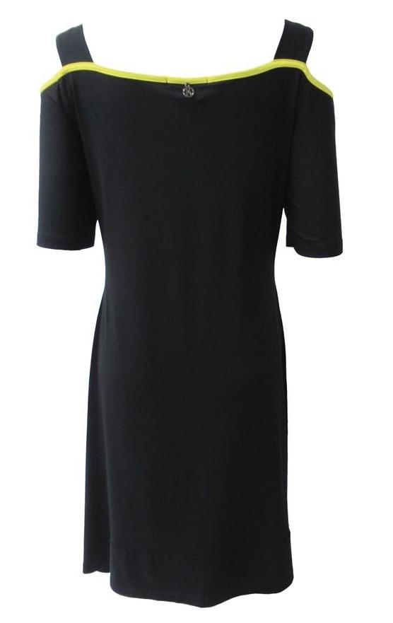Maloka: Lemon Lime Marble Cold Shoulder Dress/Tunic (1 Left!)