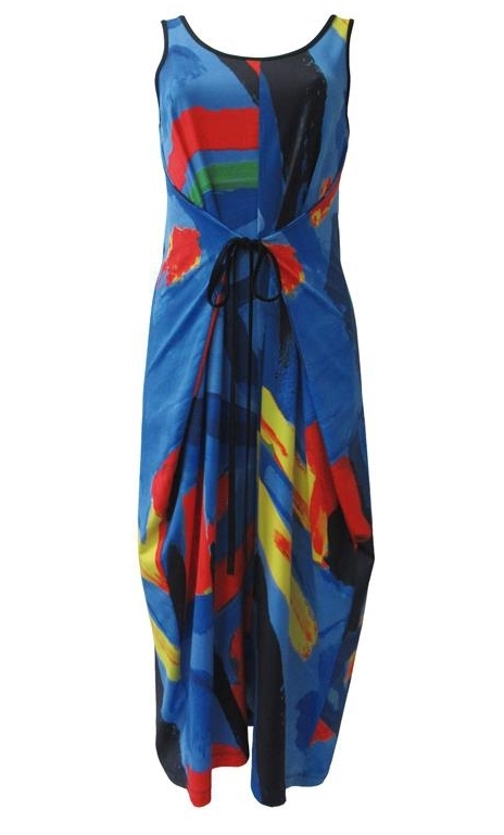 Maloka: Colors Of Picasso's Gypsy Beauty Abstract Art Jumpsuit/Sundress