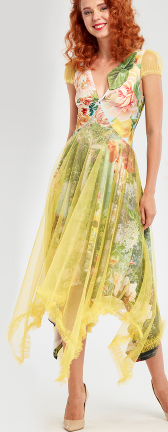 IPNG: Carnations Wrapped In Paradiso Four Corners Gown IPNG_IPDFC-067_N