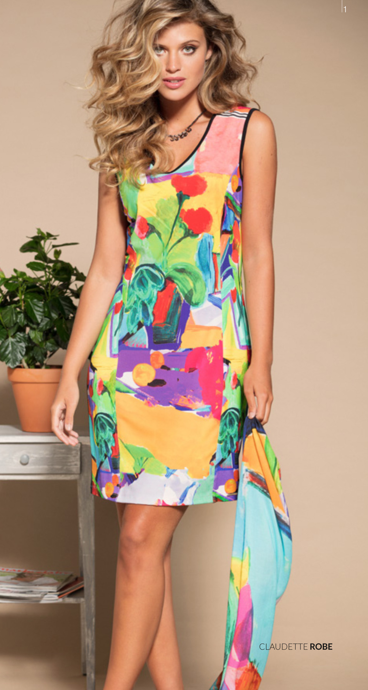Maloka: Apples & Cherries Flared Midi Dress/Tunic