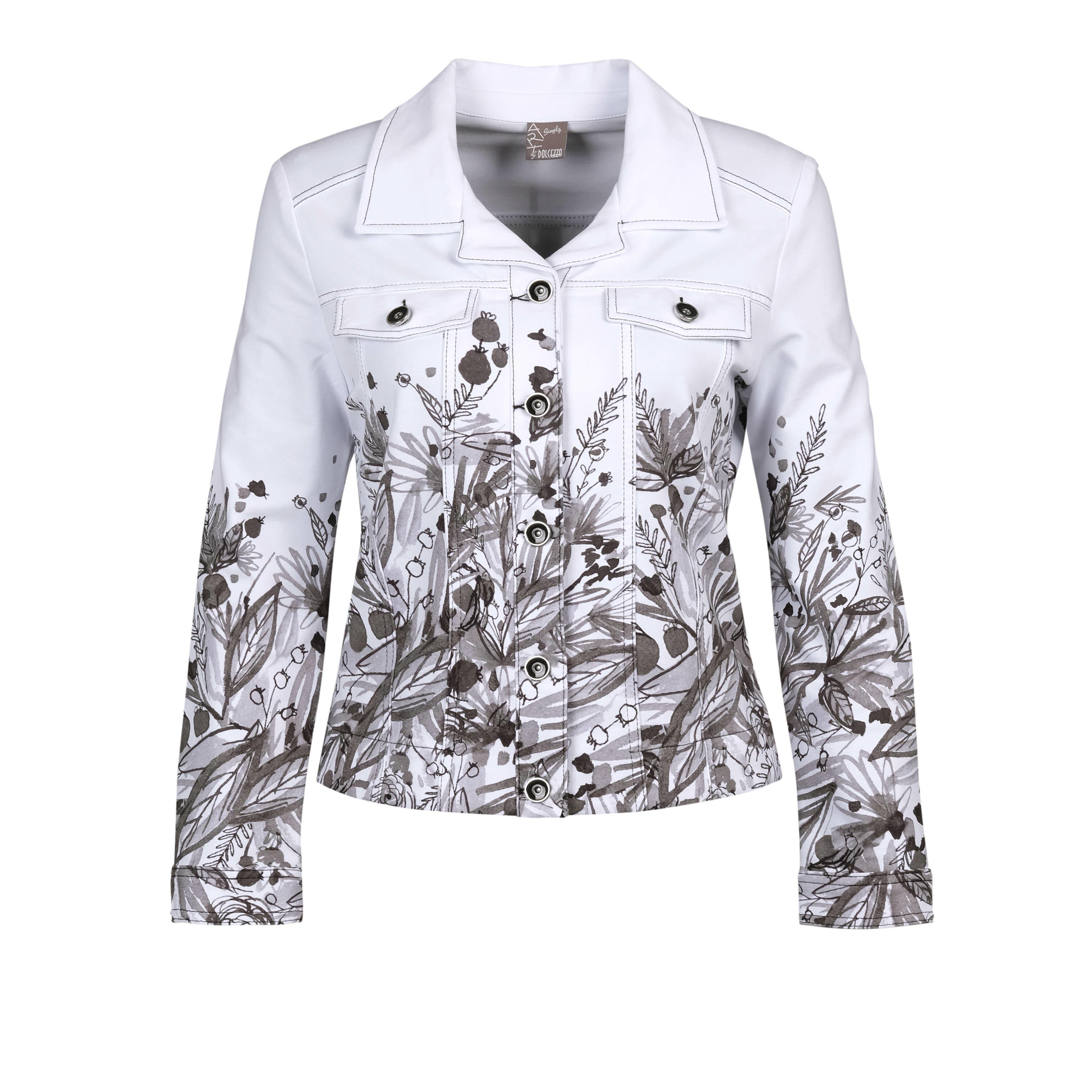 Simply Art Dolcezza: Wild Flowers In Black & White Abstract Art Soft Denim Jacket (2 Left!)