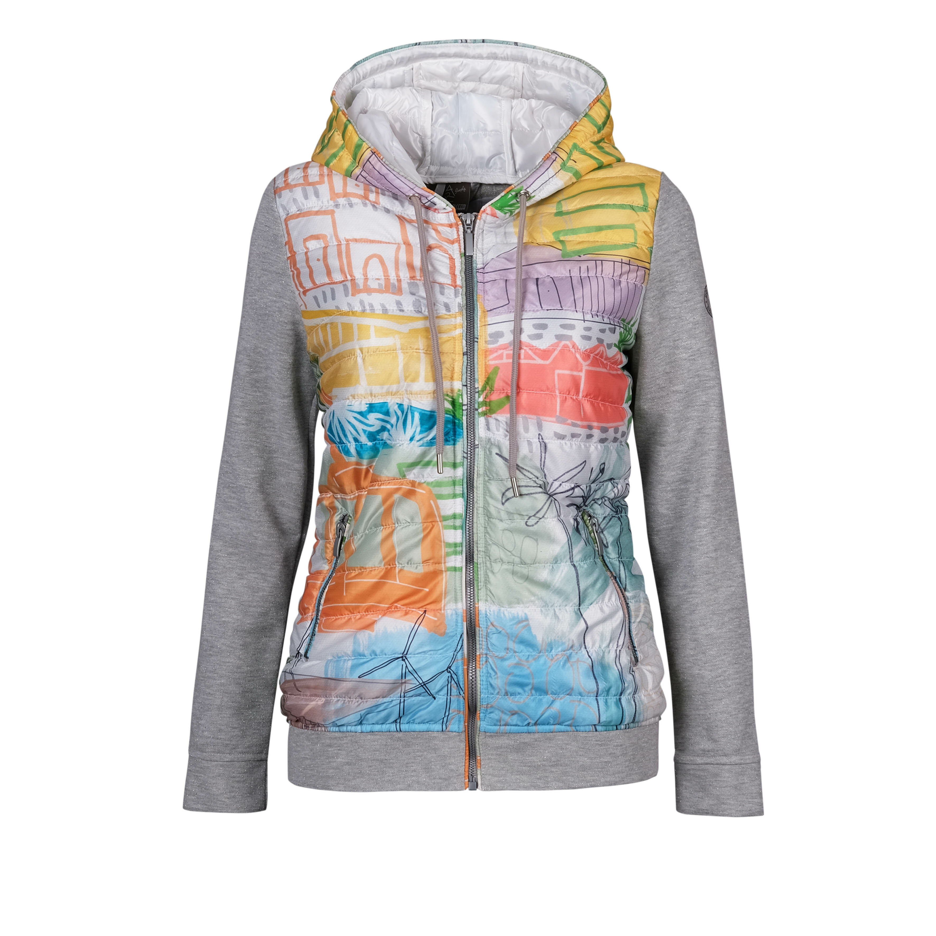 Simply Art Dolcezza: Palm Springs Cityscape Abstract Art Puff Hoodie Jacket (3 Left!) Dolcezza_SimplyArt_20810