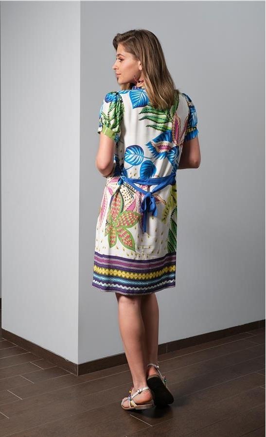 Paul Brial: French Polynesian Flower Garden Midi Dress