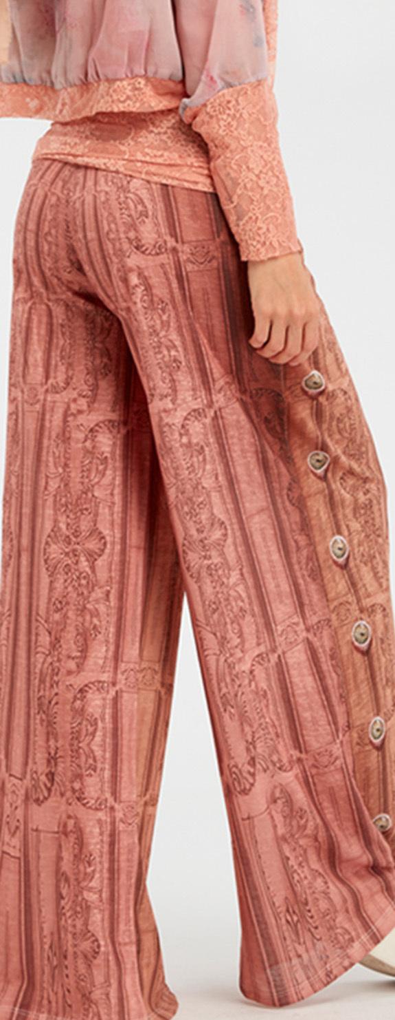 IPNG: Inna Me Royal Rose Clocks Illusion Comfort Drape Pants (Some Ship Immed!)