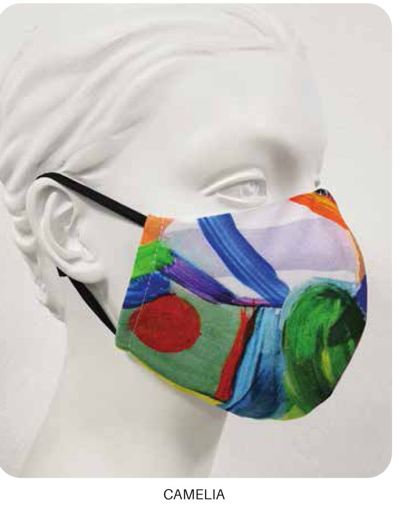 Maloka: Colors Of Picasso's Gypsy Beauty Abstract Art Protective Masks 1, 2 & 3-Pack (More Colors, With Filter!) MK_MASK