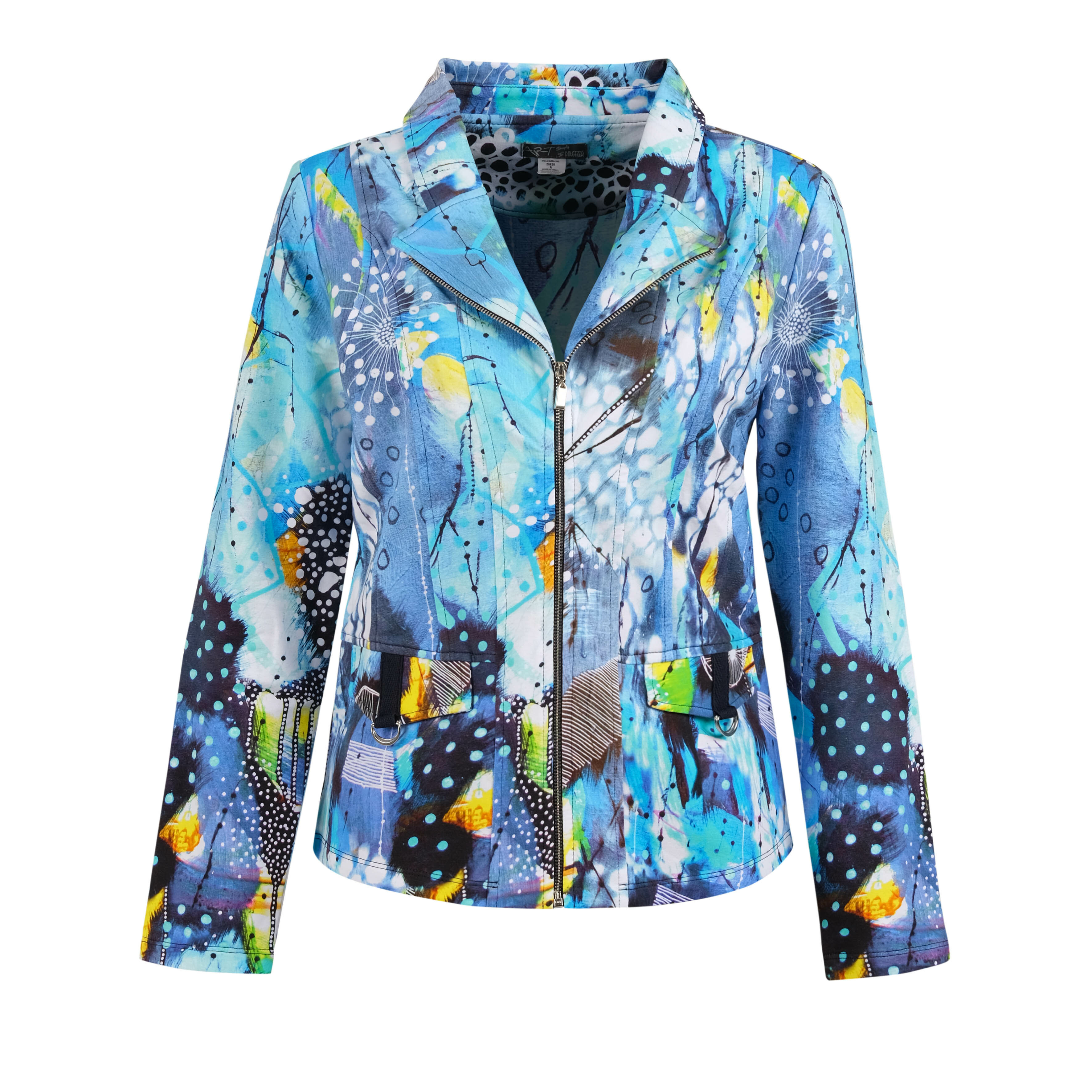 Simply Art Dolcezza: The Love of Blue Happiness Abstract Art Zip Jacket (1 Left!)