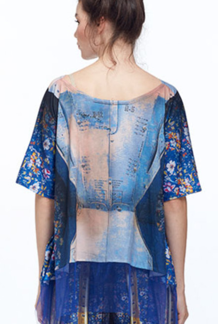 IPNG: Adjust-o-matic Shadow Illusion Shawl Blouse Tunic (Ships Immed, 1 Left!)