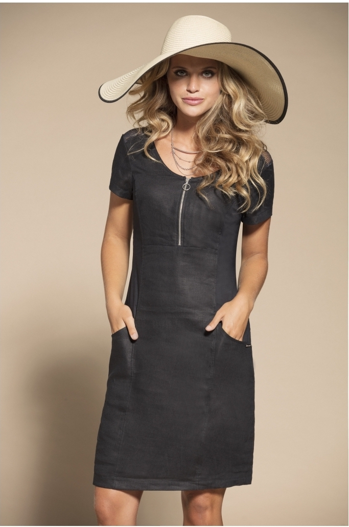 Maloka: High Waisted Linen Pocket Dress (More Colors!) MK_ROSALIA