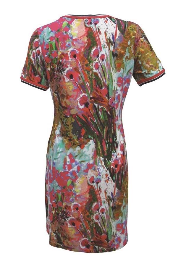 Maloka: Pink Isles Abstract Art Dress/Tunic