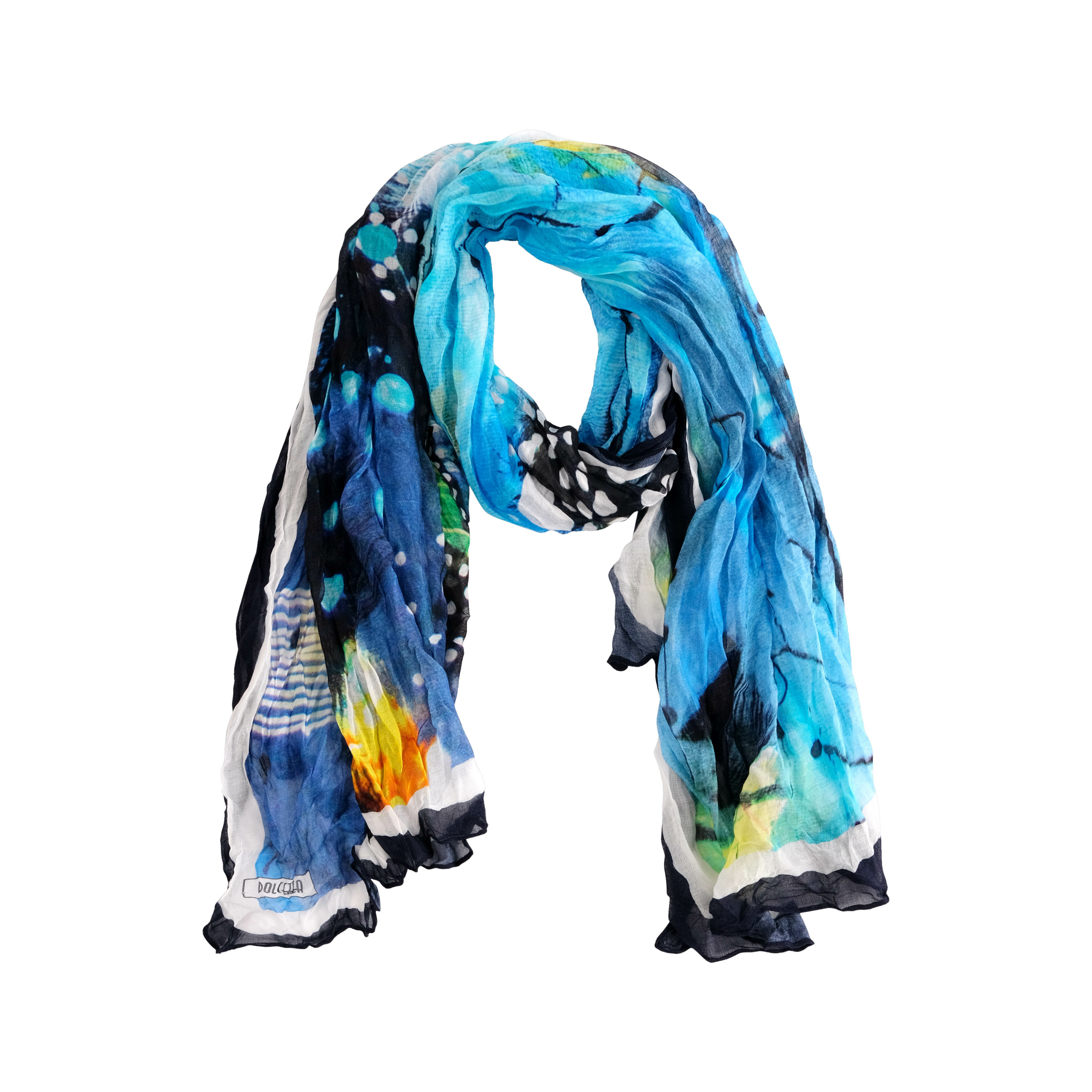 Simply Art Dolcezza: The Love of Blue Happiness Abstract Art Scarf (2 Left!) DOLCEZZA_SIMPLYART_20902
