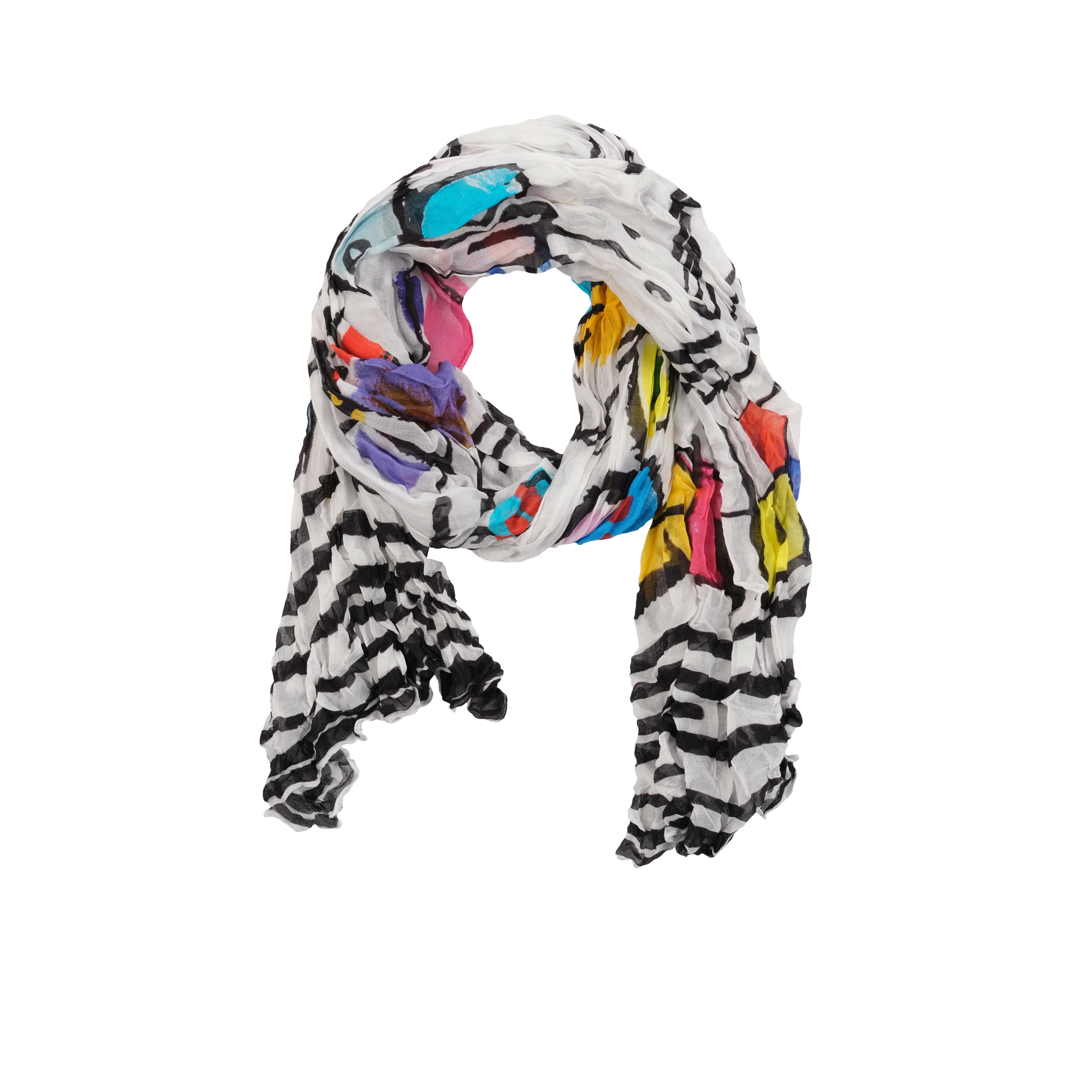 Simply Art Dolcezza: Medieval Ribbons Of Etagere & Miss Eze Abstract Art Scarf (1 Left!) DOLCEZZA_SIMPLYART_20909