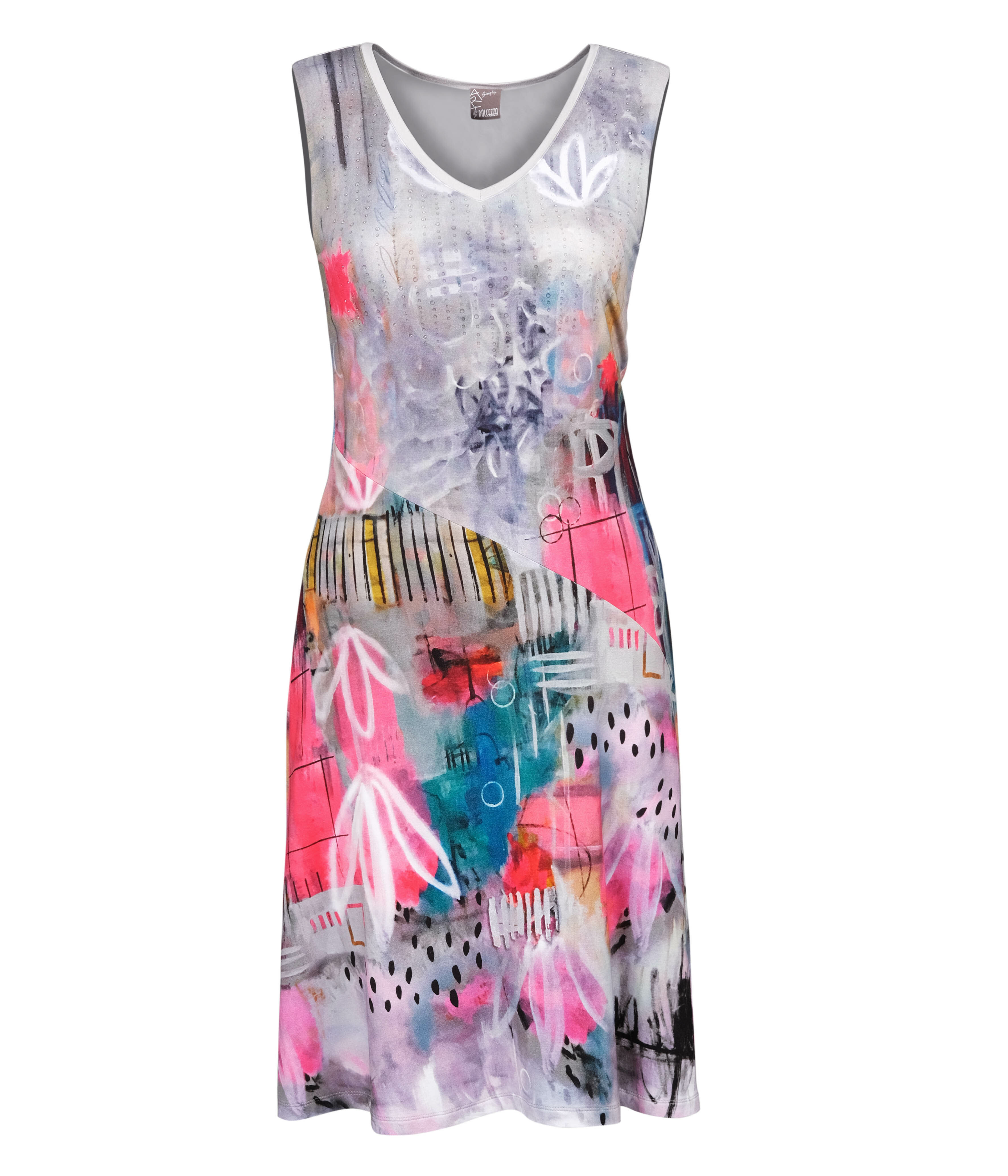 Simply Art Dolcezza: Receive The Best Things In Life Abstract Art Midi Dress (1 Left!)