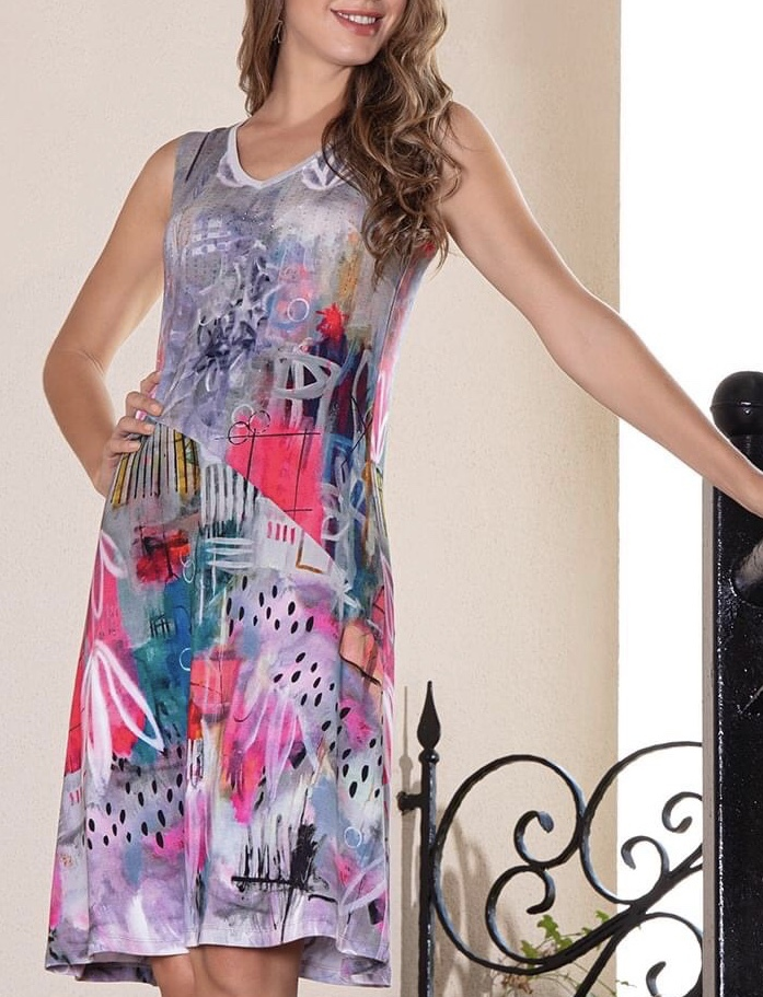Simply Art Dolcezza: Receive The Best Things In Life Abstract Art Midi Dress (1 Left!) DOLCEZZA_SIMPLART_20675
