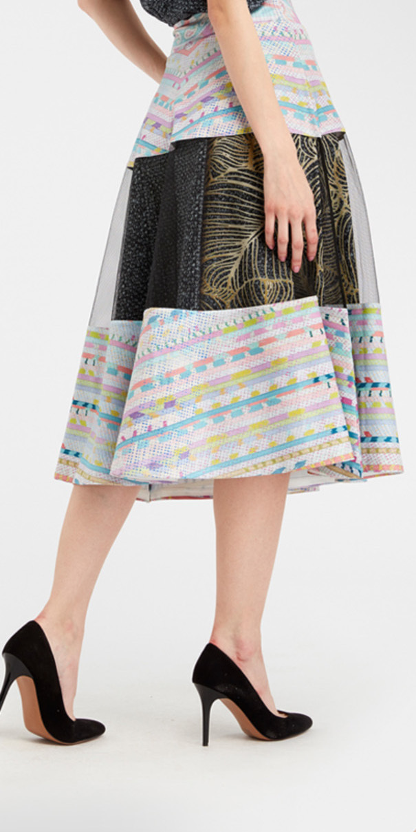 IPNG: Royal Summer Stamp High Waisted Illusion Skirt (Ships Immed!)
