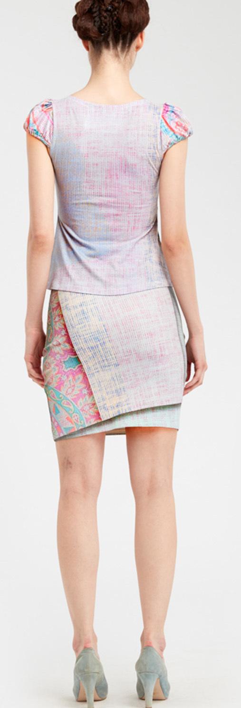 IPNG: Royal Summer Stamp Galaxy Tie Dye Illusion Top