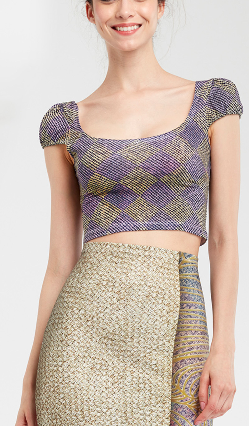 IPNG: Royal Summer Stamp Galaxy Illusion Crop Top (Some Ship Immed!) IPNG_RSSSHM_116