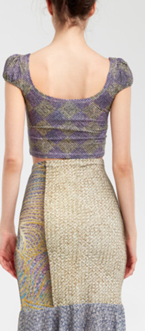 IPNG: Royal Summer Stamp Galaxy Illusion Crop Top (Some Ship Immed!)
