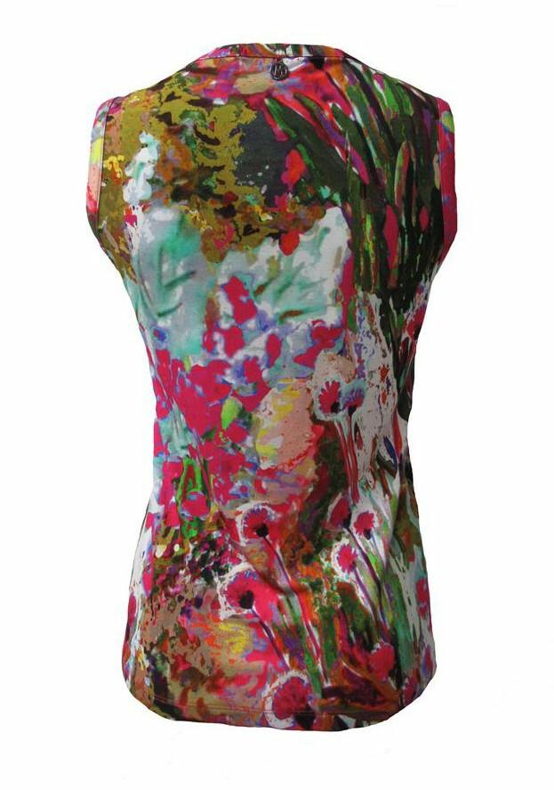Maloka: Pink Isles Abstract Art T-shirt Tank