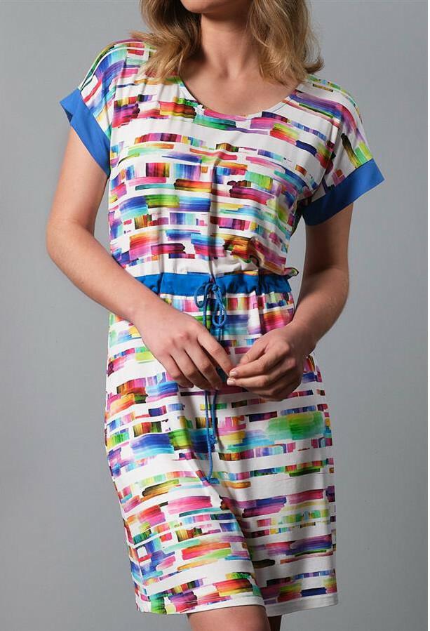 Paul Brial: Prismatic Tie Dye Drawstring Dress