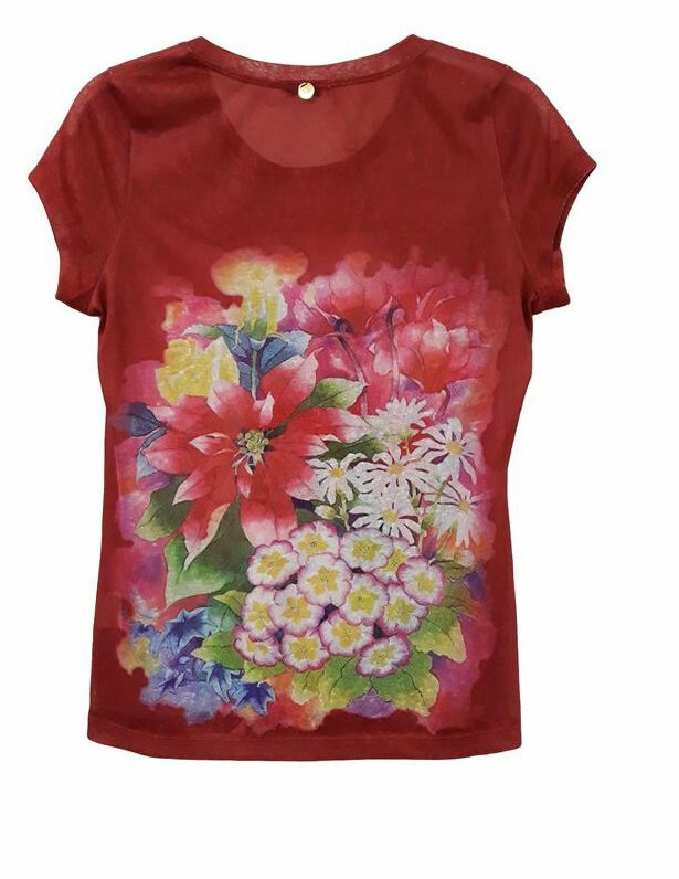 Paul Brial: Airbrushed Art Bouquet T-Shirt SOLD OUT