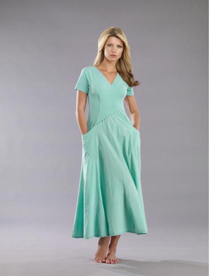 Luna Luz: Short Sleeve Cross Over Bodice Long Dress (Ships Immed: Electric Blue, Black!) LL_518_NEW2