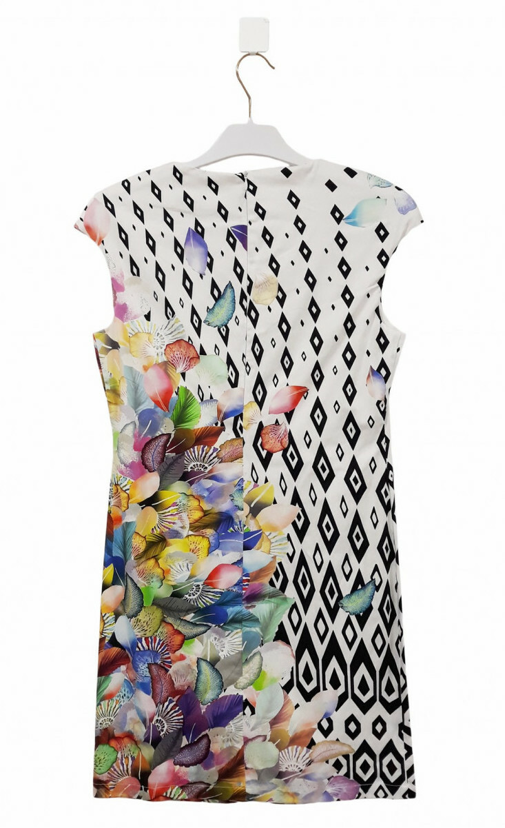 Paul Brial: Colors Of The Water Lily Midi Dress/Tunic