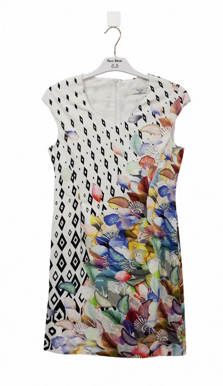 Paul Brial: Colors Of The Water Lily Midi Dress/Tunic PB_REVERIE