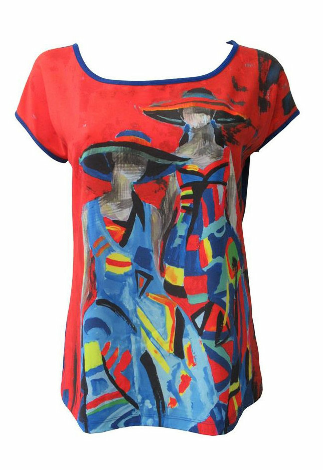 Maloka: Colors Of Picasso's Gypsy Beauty Abstract Art T-shirt (More Art Patterns, Few Left!) MK_GLORIE