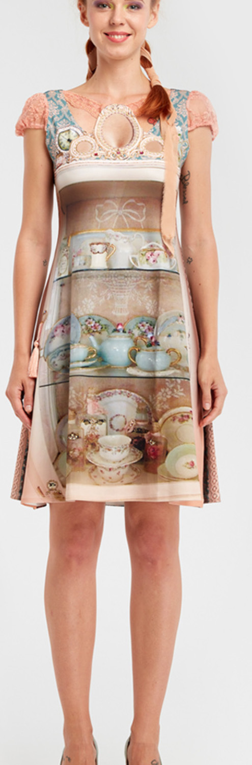 IPNG: Inna Me IPNG: Inna Me Royal Rose Cupboard Illusion Midi Dress (Some Ship Immed!)